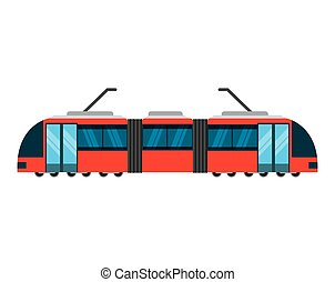 tram transport public service icon vector illustration...