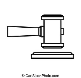 hammer wood gavel icon vector isolated design