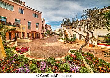 flower bed in Porto Cervo, Sardinia