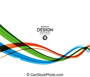 Colorful vector lines. Abstract background - Colorful vector...