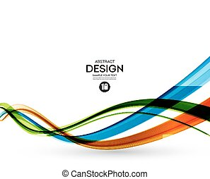 Colorful vector lines Abstract background - Colorful vector...