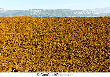 Plowed Fields of Tuscany in the Autumn