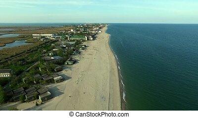 Bay coastline in Odessa region, Ukraine - view on Bay...