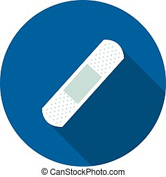 flat icon is a band-aid