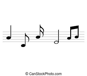 notes music sheet pattern icon