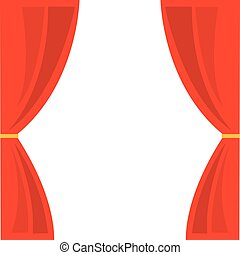 courtain show theater icon vector illustration design