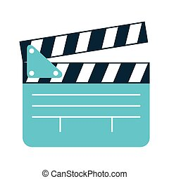 clapper clapperboard film icon