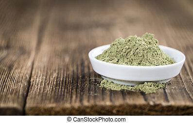 Stevia, hoja, polvo