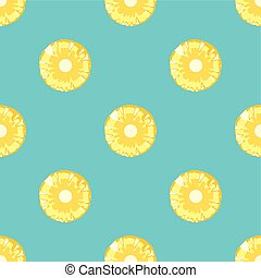 Pineapple vector seamless pattern.