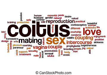 Coitus word cloud concept - Coitus word cloud