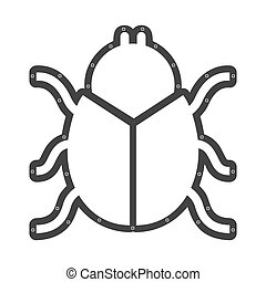 scarab beetle animal vector illustration icon design