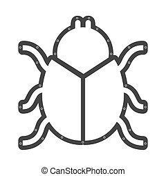 scarab beetle animal vector illustration icon design