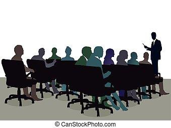 Seminar im Office.eps - Training seminar, informing