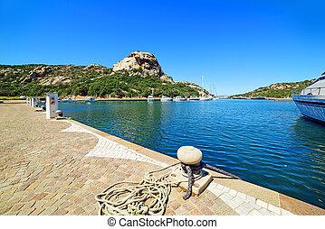 bollard in Poltu Quatu, Sardinia