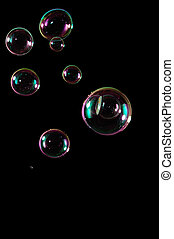Bubbles isolated on black - A bunch of bubbles isolated...
