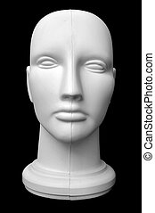 Mannequin Head - Front view of a mannequin dummy head...
