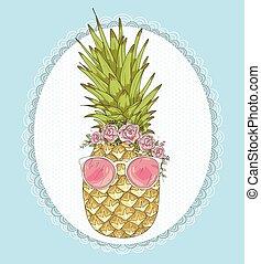 CÙte,  Hipster, Ananas