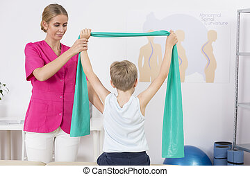 corps, séance entraînement, droit, attitude