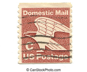 old postage stamp from USA C