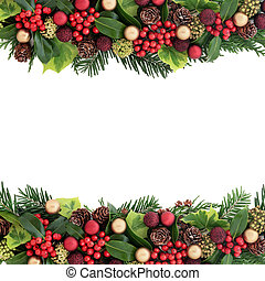 Decorative Christmas Border - Christmas background border...
