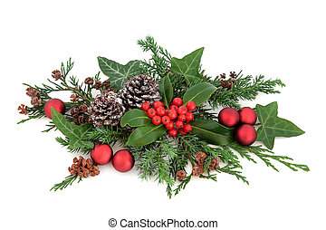 Christmas Decoration - Christmas decoration with red...