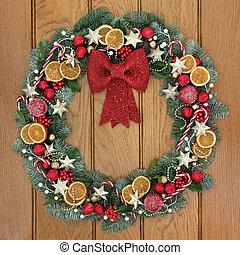Decorative Christmas Wreath - Christmas wreath decoration...