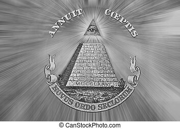 Eye of Providence, Beams from Eye every which way - Dollar...