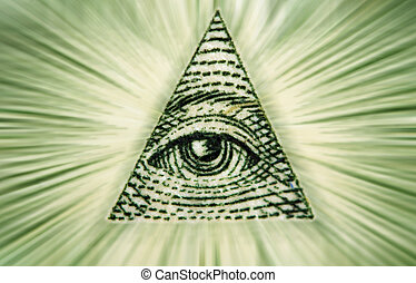 Dollar USA Eye of Providence - Element of the image of Eye...