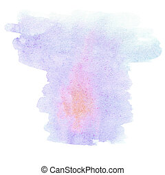 Abstract watercolor hand drawn template with rough edges...