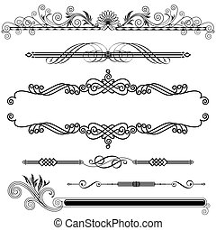 Horizontal Ornamental - Set of Horizontal Ornamental design...