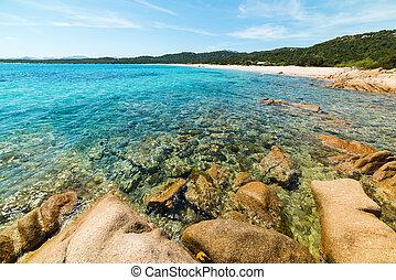 Liscia Ruja beach in Costa Smeralda, Italy