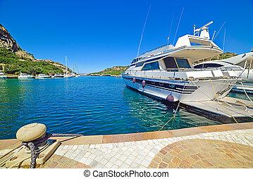 yachts in Poltu Quatu, Sardinia