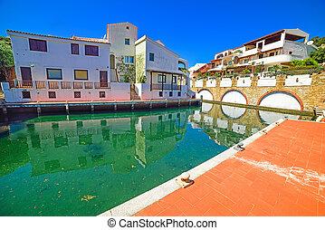 dock in Poltu Quatu resort in Costa Smeralda, Sardinia