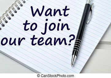 Question Want to join our team on notebook