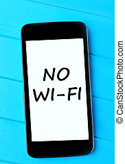 The words No Wi-Fi on telephone
