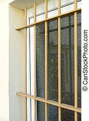 Iron bars - Window protected by iron bars