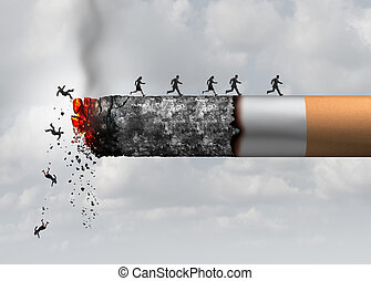 Smoking Death - Smoking death and danger concept as a...