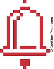 Vector pixel icon isolated, 8bit graphic element. Simplistic...