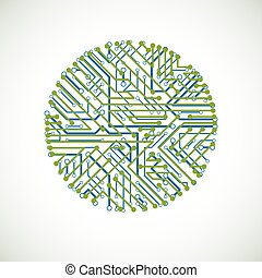 Vector abstract computer circuit board colorful...