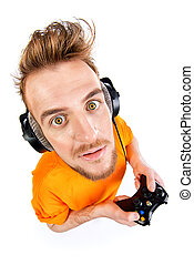 gamer with controller