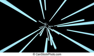 Hyperspace Blue lines. Seamless loop. HD Resolution