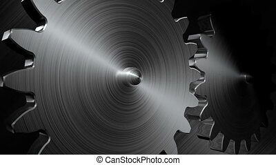 Big gears rotation. Seamless loop.