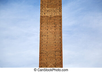 Torre del Mangia in Siena, Italy - Detail of the Torre del...