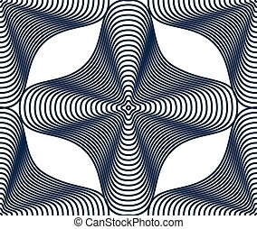 Vector stripy endless pattern, art continuous geometric...
