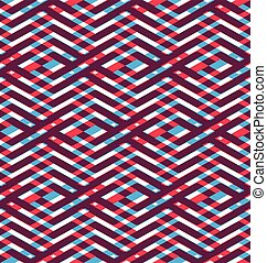 Seamless pattern with parallel intertwine lines, colorful...