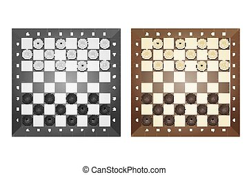 Set of chess boards Isolated on white background Vector...