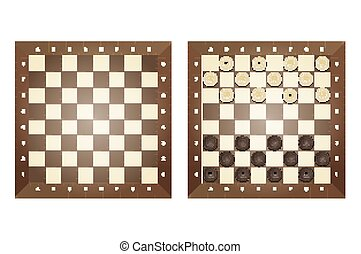 Set of chess boards. Isolated on white background. Vector...