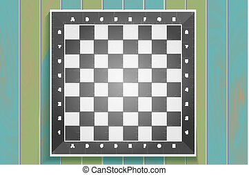 Vector checker background. - Vector chess boards on wooden...