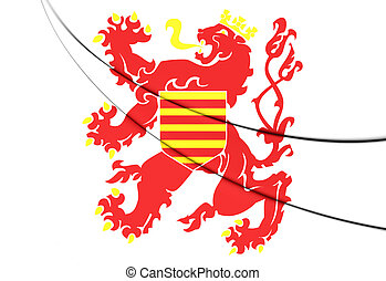 Flag of Limburg Province, Belgium 3D Illustration