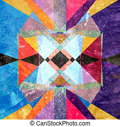 Abstract watercolor geometric background - Abstract...